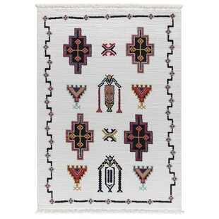 Best Rubie White Area Rug By Bungalow Rose