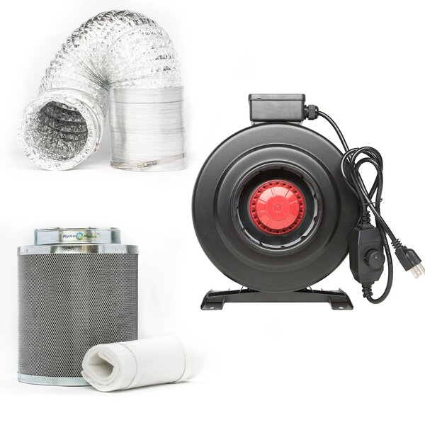 Inline Carbon Fan Pre-Filter and Ducting Combo by Hydroplanet