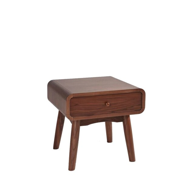 Bradbury Solid Wood 1 Drawer Nightstand by Corrigan Studio