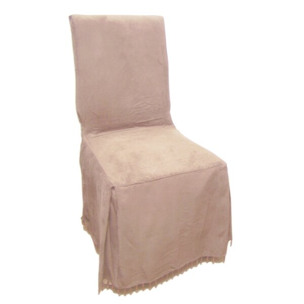 Faux Suede Dining Chair Slipcover by Charlton Home