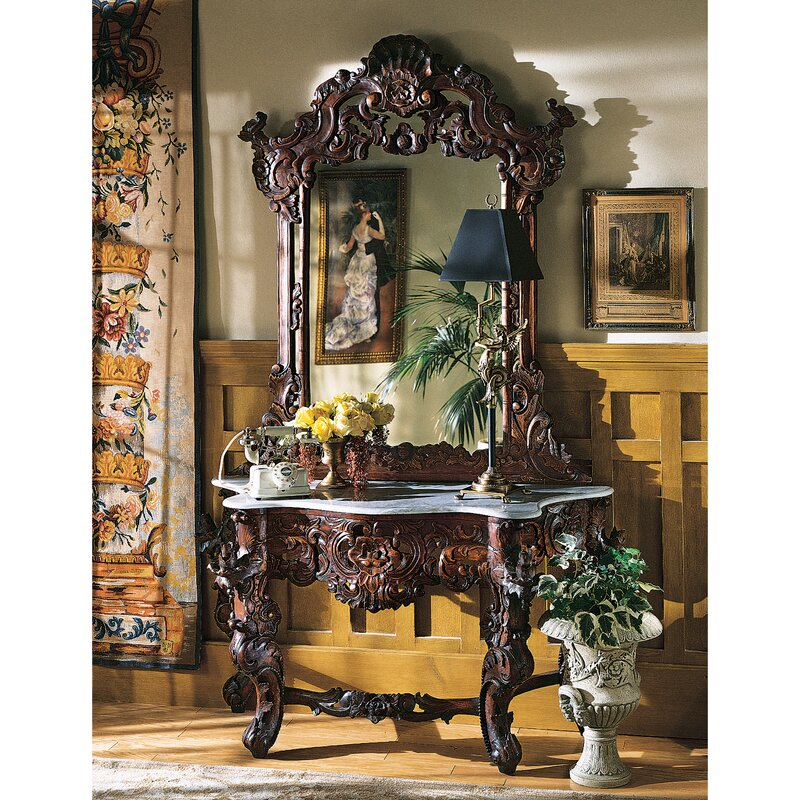 Hapsburg Console Table And Mirror Set