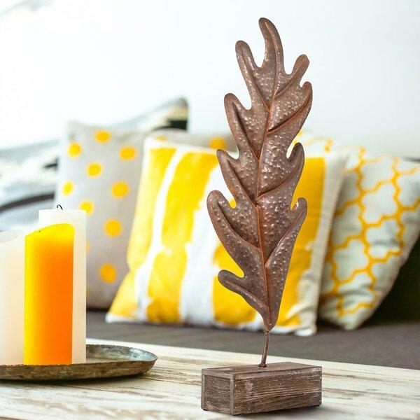 Pekalongan Leaf Tabletop Sculpture by Union Rustic