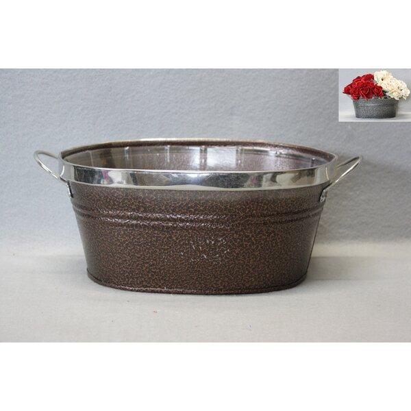 Sorensen Metal Oval Pot Planter by August Grove