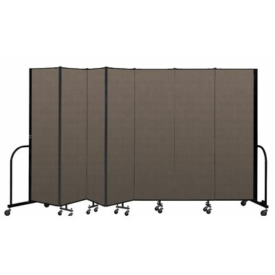 Freestanding 7 Panel Room Divider ScreenFlex Color: Walnut, Height: 80""
