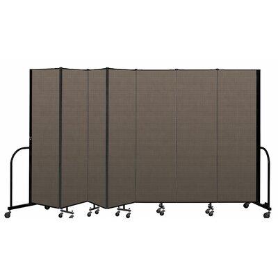 "Freestanding 7 Panel Room Divider ScreenFlex Color: Walnut, Height: 80"""