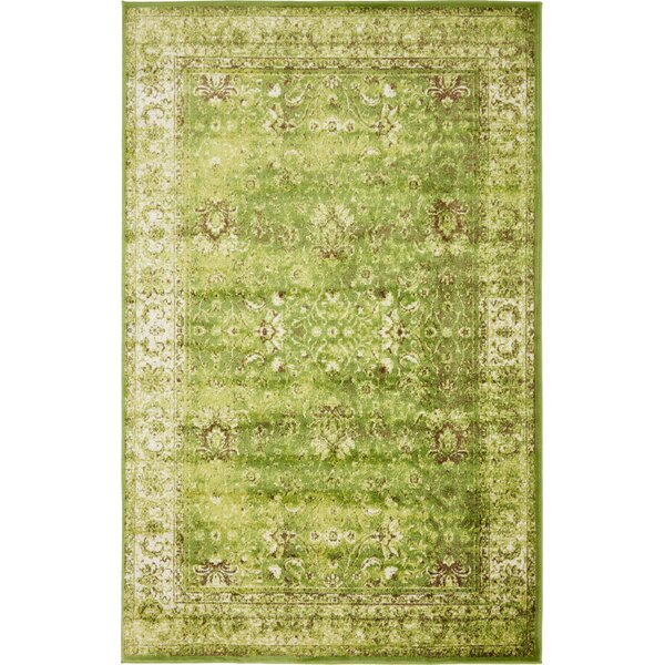 Neuilly Green/Ivory Area Rug by Mistana
