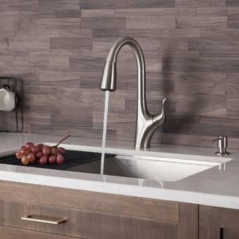 7434 Moen Chateau Single Handle Kitchen Faucet Reviews Wayfair