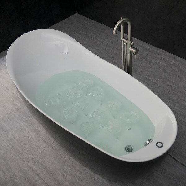 Batts 67 x 32 Freestanding Air Bathtub by Orren Ellis