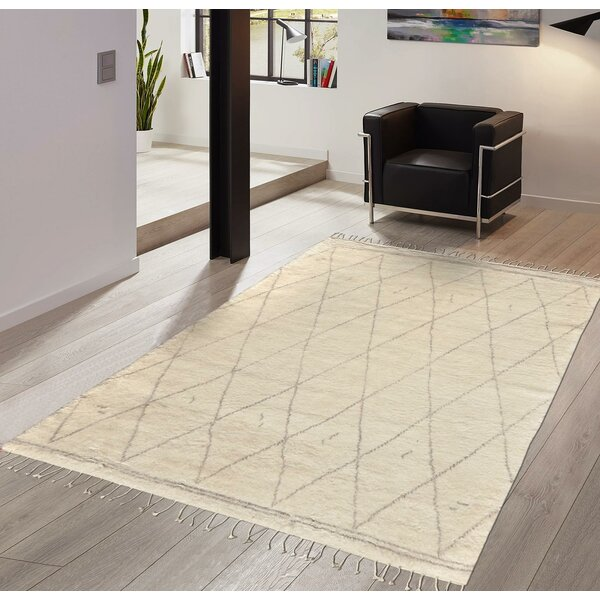 Moroccan Hand-Knotted Silk/Wool Area Rug by Pasargad