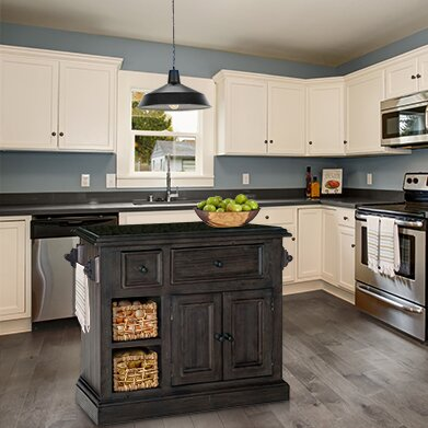 Zula Kitchen Island with Granite Top by Laurel Foundry Modern Farmhouse