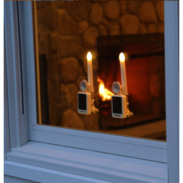 Carolite Pro Solar Holiday Flameless Window Candle (Set of 2) by Touch of ECO