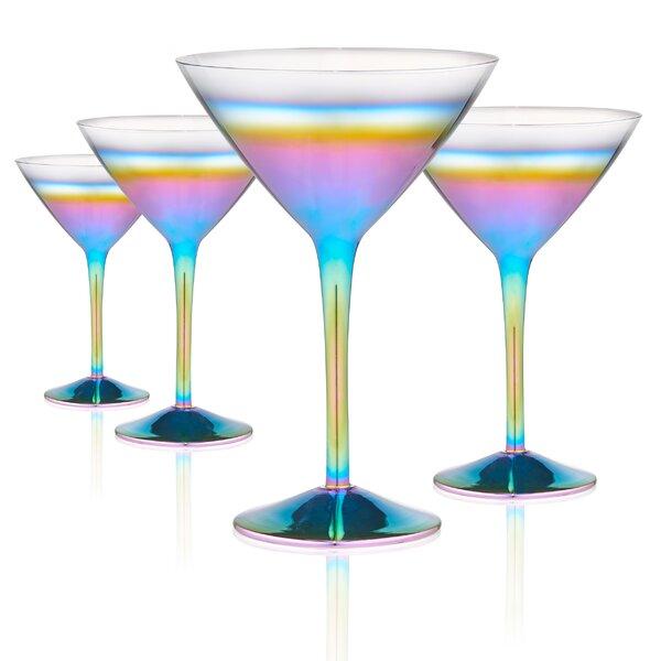 Wetzel 9 oz. Glass Martini Glass (Set of 4) by Latitude Run