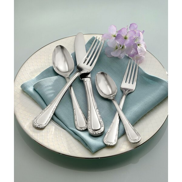 Venetian Lace 5 Piece 18/10 Stainless steel Flatware Set by Lenox