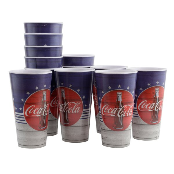 Americana 20 oz. Plastic Every Day Glass (Set of 12) by Coca Cola