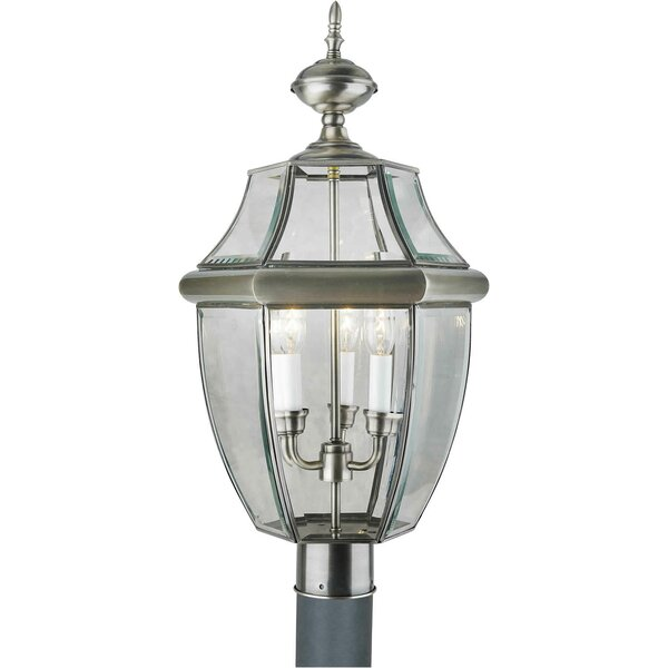 Tovey Brass 3-Light Lantern Head by Three Posts