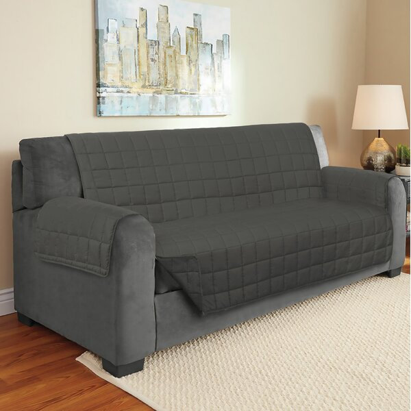 Suede Box Cushion Sofa Slipcover by Winston Porter