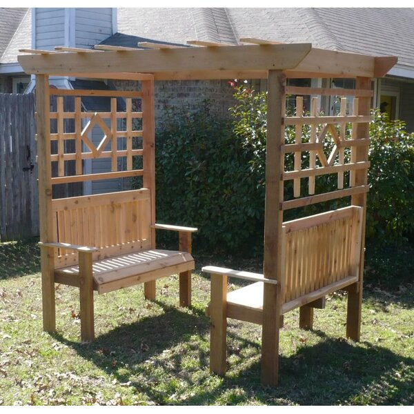 Double Garden Arbor with Bench by Threeman Products