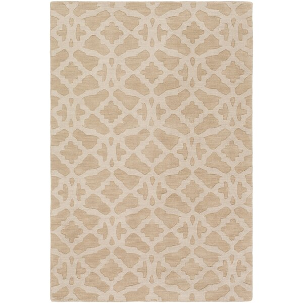Dylan Hand-Loomed Beige Area Rug by Charlton Home