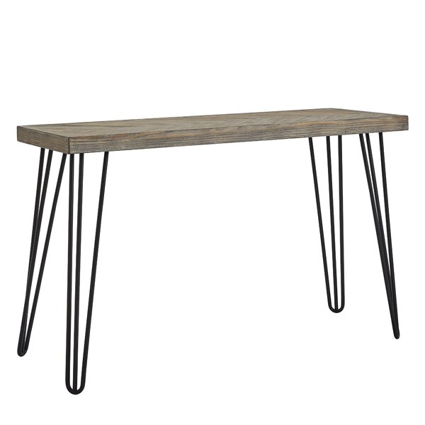 Lampley Wood and Metal Entryway Console Table by Wrought Studio Wrought Studio