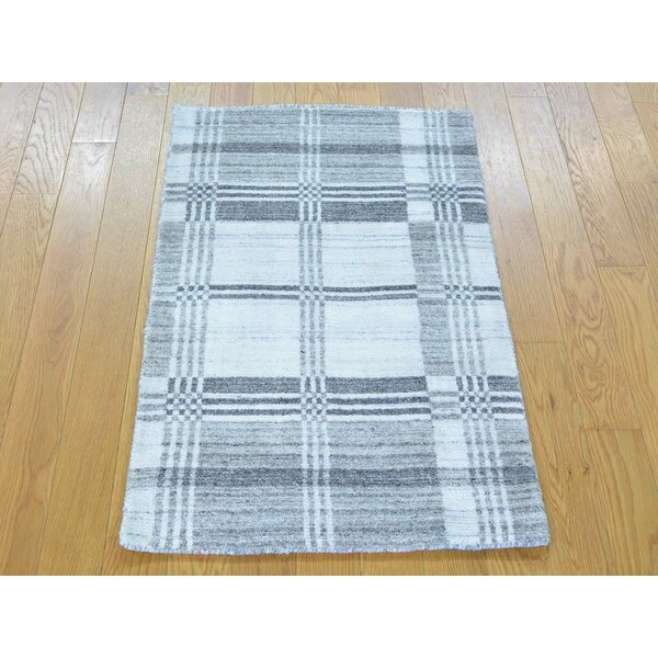 One-of-a-Kind Bond Geometric Design Handwoven Wool Area Rug by Isabelline