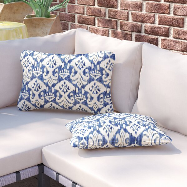 Pederson Indoor/Outdoor Piped Lumbar Pillow (Set of 2) by Andover Mills