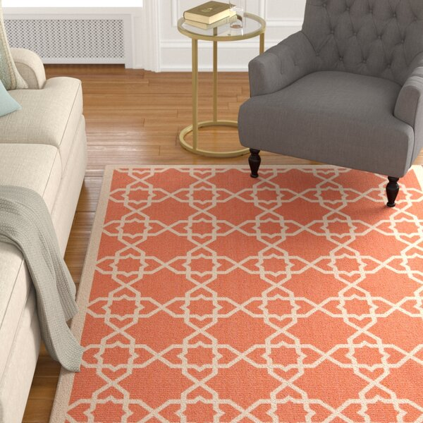 Bexton Terracotta / Beige Indoor/Outdoor Rug by Alcott Hill