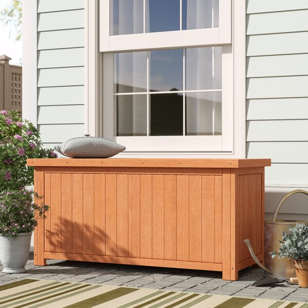 67 Gallon Solid Wood Deck Box by Leisure Season Leisure Season