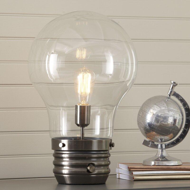 "Birch Lane Kids™ Edison 18"" Table Lamp With Globe Shade"