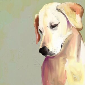 'Best Friend - Yellow Lab' Print by Andover Mills
