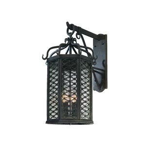 Clearance Hinckley Glass Shade Outdoor Wall Lantern By Darby Home Co