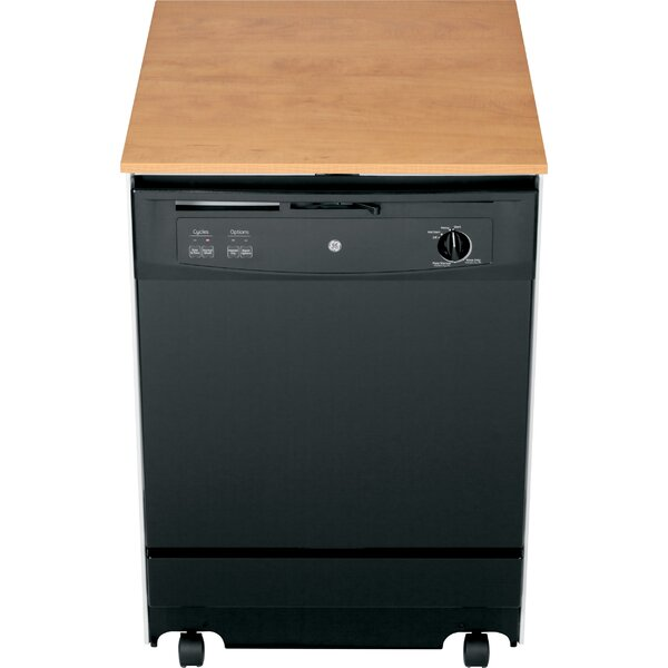 24 64 dBA Portable Dishwasher with Front Controls by GE Appliances