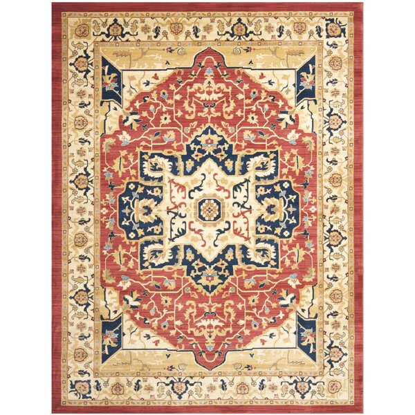 Austin Red/Creme Area Rug by Safavieh