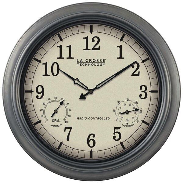 Atomic Outdoor 18 Wall Clock by La Crosse