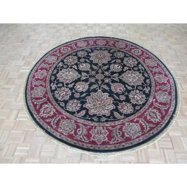 One-of-a-Kind Railey Hand-Knotted Wool Black Area Rug by Astoria Grand