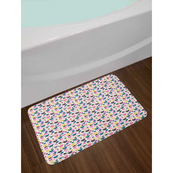 Cheerful Animal Bath Rug by East Urban Home