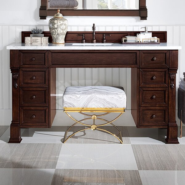 Bedrock 60 Single Burnished Mahogany Bathroom Vanity Set by Darby Home Co
