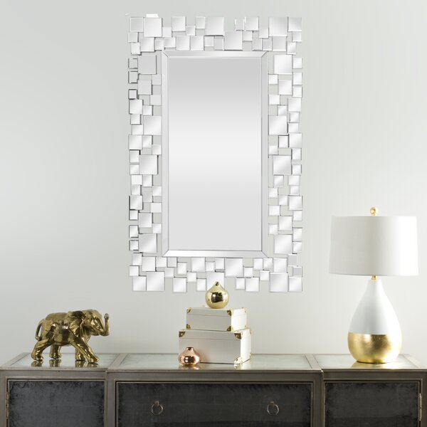 Lamm Geometric Squares Accent Mirror by Orren Ellis