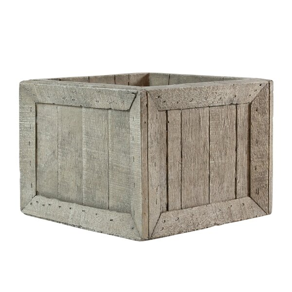 Longcroft Wharf Crates Cement Planter Box by Breakwater Bay