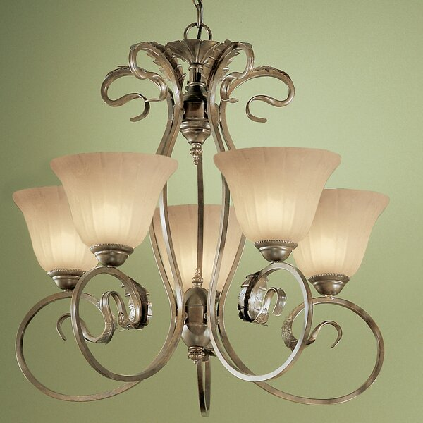 Manilla 5-Light Shaded Classic / Traditional Chandelier by Classic Lighting Classic Lighting