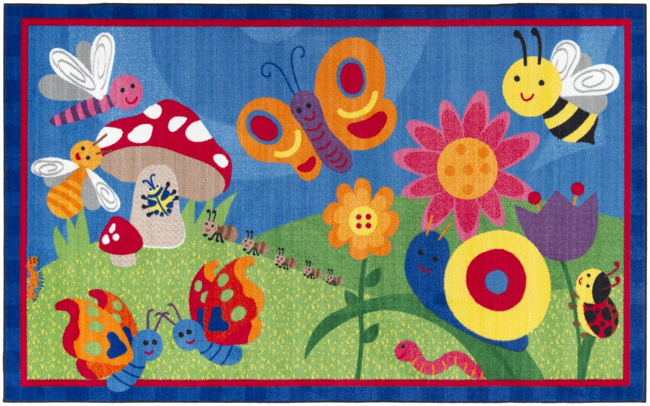 Flagship Carpets Cutie Bugs Kids Rug & Reviews | Wayfair