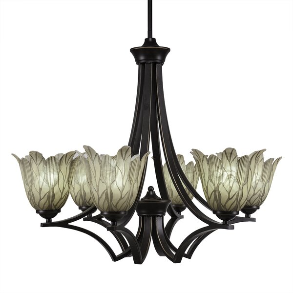 Cambridge 6-Light Shaded Chandelier Empire Chandelier by World Menagerie World Menagerie