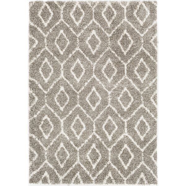 Chronister Geometric Brown/Taupe Area Rug by Wrought Studio