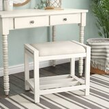Adrian Vanity Stool by Highland Dunes
