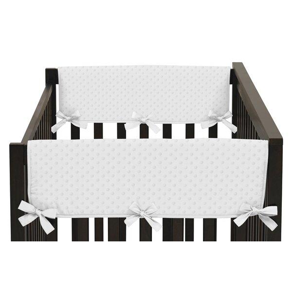 Minky Dot Side Crib Rail Guard Cover (Set of 2) by Sweet Jojo Designs