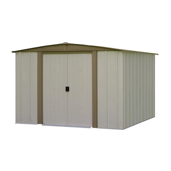 Bedford 7 ft. 11 in. W x 7 ft. 6 in. D Metal Storage Shed by Arrow
