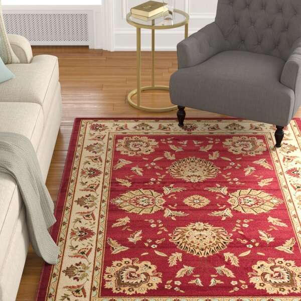 Ottis Red/Ivory Area Rug by Charlton Home