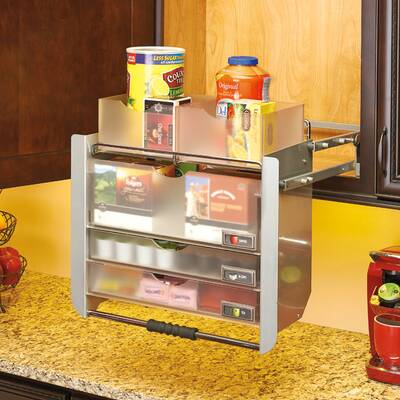 Universal Wall Cabinet Pull Down Shelving System