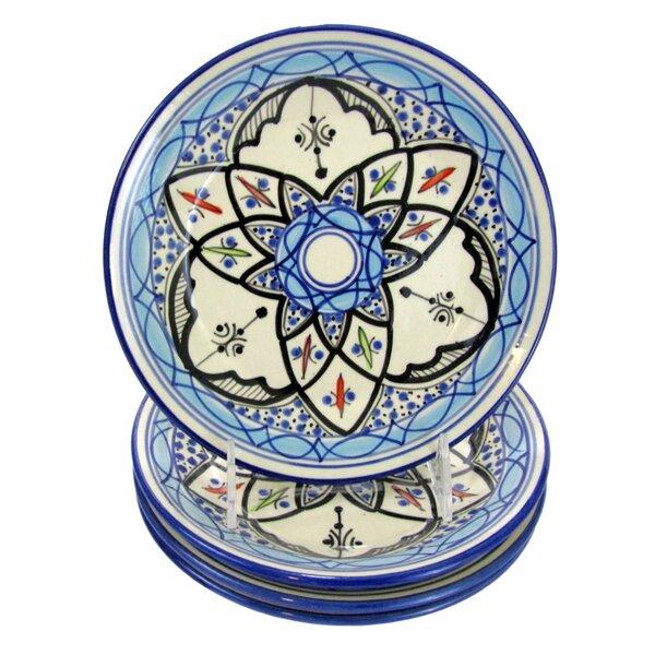 Tibarine 8 Stoneware Side Plate (Set of 4) by Le Souk Ceramique