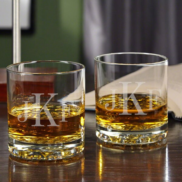 Buckman Personalized 10.25 oz. Old Fashioned Glass (Set of 2) by Home Wet Bar
