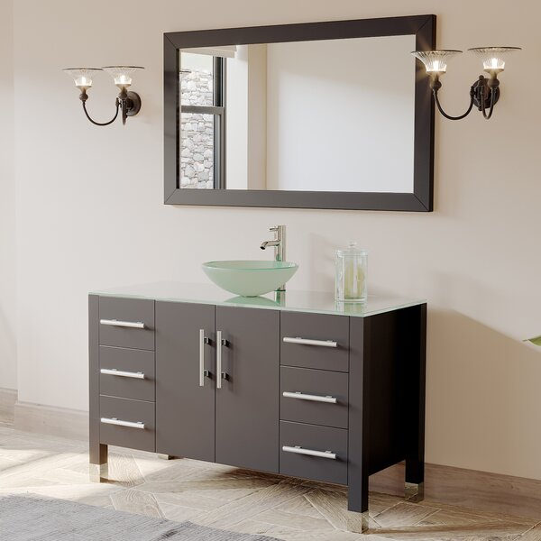 Cassia 47 Single Bathroom Vanity Set with Mirror by Cambridge Plumbing